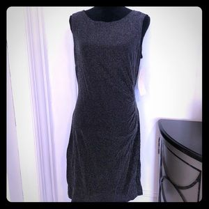 Bella Rose Silver Dress Sleeveless Sz 12